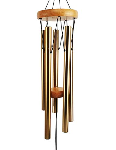 MUMTOP Gold Metel Wind Chimes Outdoor Deep Tone for Garden Decor,More Lasting Sound, Better Sound.
