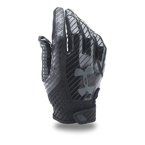 Under Armour Men's Spotlight Football Gloves, Black/Black, (Black Mens Football)