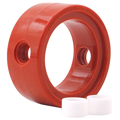 (Dernord Sanitary Butterfly Valve Repair Kit, Silicone Seat w/ (2) Bushings - for 1-1/2