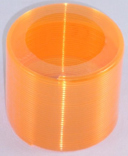 6cm Orange Neon Springy - Slinky Spring - Magic Spring - Party Bag Fillers [Toy]