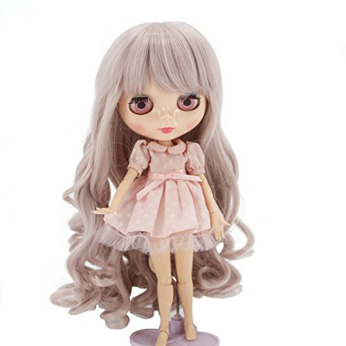 Wigs Only! Taro Miilk Wigs for Blythe Dolls Heat Resistant Synthetic Doll Hair Accessories from MUZI WIG