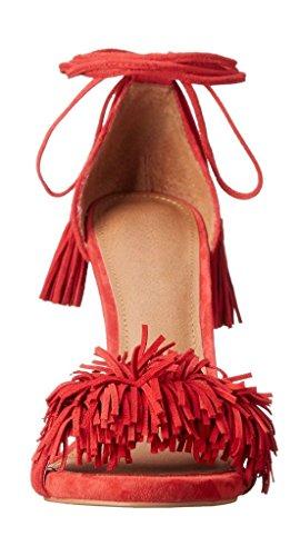 Kolnoo - Zapatos con tacón Mujer Rojo