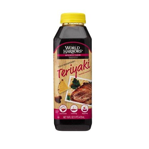 World Harbors Maui Mountain Teriyaki Sauce & Marinade, 16-Ounce Bottle, (Pack of (Teriyaki Sauce Ingredients)