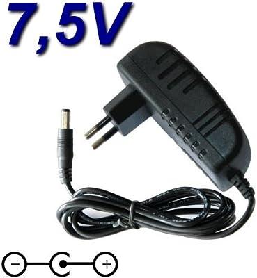 TOP CHARGEUR ® - Adaptador de alimentación, cargador de 7,5 V para ...