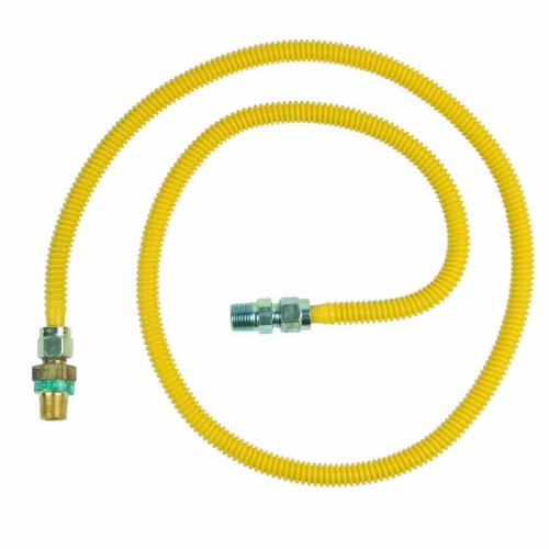 BrassCraft CSSD44E-60 P 1/2-Inch Outer Diameter Safety Plus Gas Appliance Connector with Excess Flow Valve