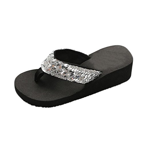 Infradito Pantofole da Pantofole Scarpe Casual Piscina Argento Sandali Donna Ciabatte UOMOGO® Estive Spiaggia tZxqRw4fdt