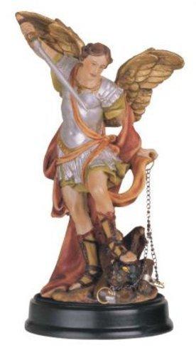 George S. Chen Imports 5-Inch Saint Michael the Archangel Holy Figurine Religious (Saint Michael Statues)