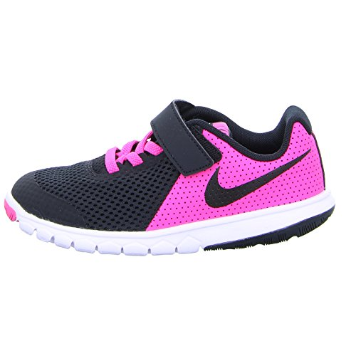 8f6219fd8e54 Get down to the basics in the Girls  Nike Flex Experience 5 (PSV) Pre-School  Girls  Shoe. Minimally designed and ultra-flexible