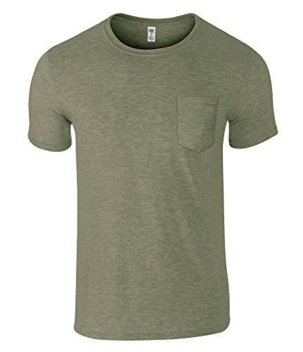 Have It Tall Men's Slim Fashion Fit Pocket T Shirt Heather Army Small Tall