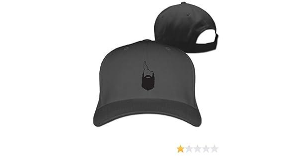 14b5f7cb8ee HDRAY Unisex Adult Idaho Beard Outline Plain Baseball Cap Adjustable  Snapback Hat Black at Amazon Men s Clothing store
