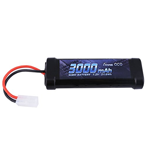 Gens ace 7.2V 3000mAh NiMH Battery High Power Rechargeable Low-self Discharge with Tamiya Plug for RC Cars Truggy Tank Electric RC Monster Truck Buggy Traxxas LOSI Associated HPI Tamiya - Charger Battery Nimh Canada