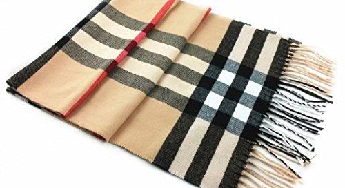 Classic Plaid Scarf Shawl Accessory Trendy Popular Warm Winter Coat Sweater - Suburban Square Shops