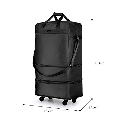 Hanke Expandable Foldable Suitcase Luggage Rolling Travel Bag Duffel Garment Tote Bag for Men Women by Hanke (Image #5)