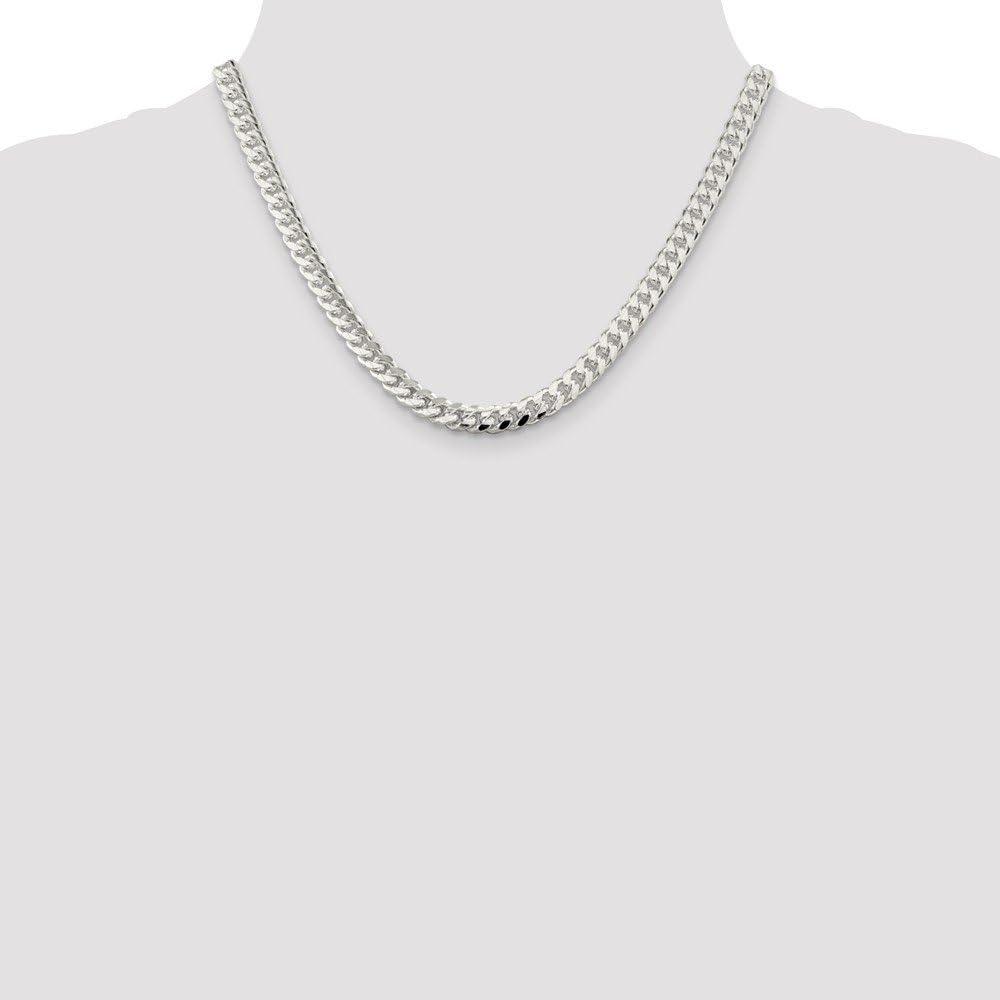 Diamond2Deal pour Homme Argent Sterling 7/mm Cha/îne Homard 45,7/cm