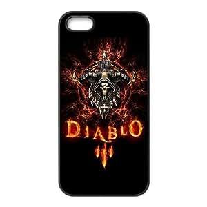 Generic Design Back Case Cover iPhone 5, 5S Cell Phone Case Black Diablo Tmzeta Plastic Case