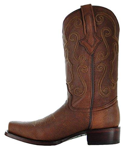 Ridgeline Heren Cowboylaarzen Door Soto Laarzen Cognac