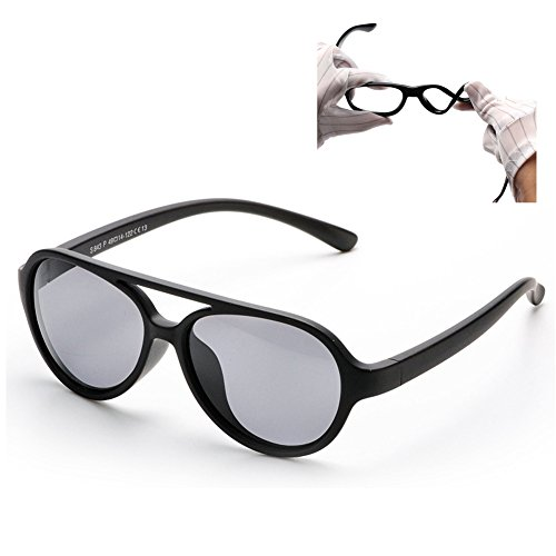 Vivic Tpee Silcon Flexible Kids Children Polarized Sunglasses  Black