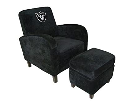 NFL Den Chair And Ottoman NFL Team: Oakland Raiders