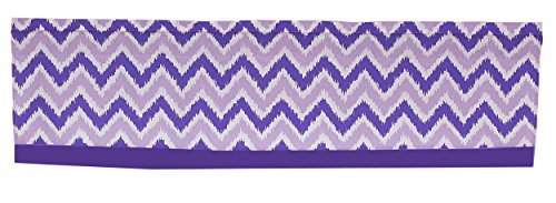 Purple and Lavender Zig Zag Window Valance by Bacati