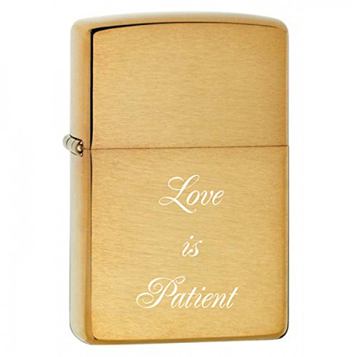 Personalized Gold Brush Zippo LIGHTER - Free Laser Engraving