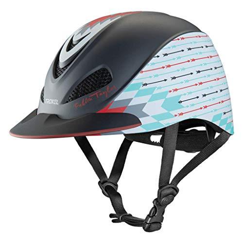 Troxel Fallon Taylor Grey Firestorm Horse Riding Western Helmet Low Profile Adjustable (Medium) (Grey Fallon)