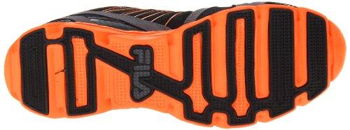 Fila Mens Spjut Mode Sneaker Svart / Castle / Vibrerande Orange
