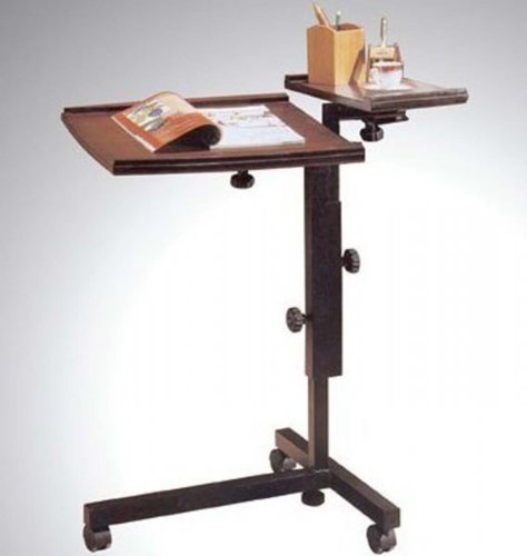 "Adjustable Height Laptop Caddy (Espresso) (38""H x 25.63""W x 21""D)"
