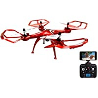 Swift Stream 2.4GHz 5 Channels 6-Axis Gyro Z-10 Remote Control Drone with Build In 0.3MP 640 x 480 Pixel Wi-Fi Camera, Red 19.00 x 19.00 x 6.75 Inches