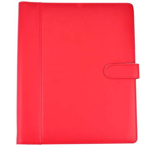 Padfolio - Resume Portfolio Folder - PU Leather Business Portfolio,Legal Document Organizer & Business Card Holder , File Pockets,Calculator,Expandable Document Organizer & Writing Pad. - Just For Fargo Women