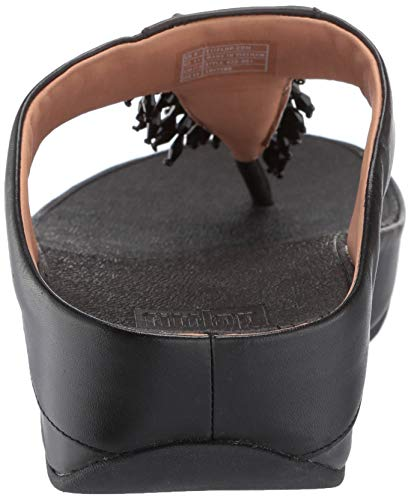De Negro thong black Fitflop Descubierta Toe Sandalias Mujer Rumba 001 Punta Para qwTIA