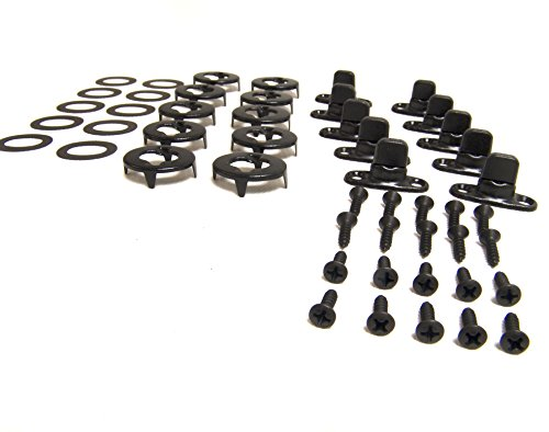 Common Sense Fasteners, Turn Button Set, Black Oxide Finish (Government Black) Mounting Screws Included 10 Piece Set - Shipped from The USA!