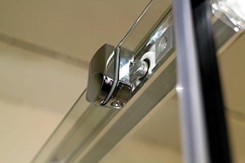 Mondodoccia – Cabina angular de ducha de 3 lados en cristal ...