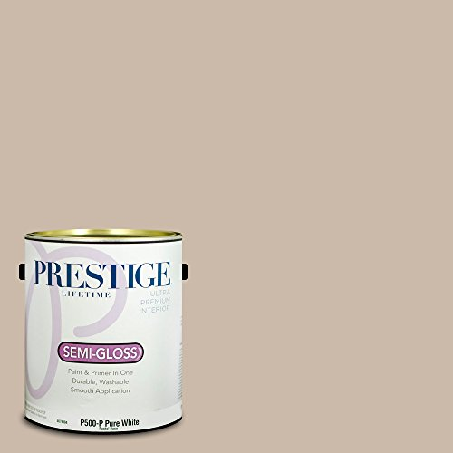 Prestige Paints Interior Paint and Primer In One, 1-Gallon, Semi-Gloss,  Comparable Match of Benjamin Moore Shabby Chic