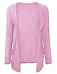 RM® Girls Long Sleeve Plain School Fashion Open Boyfriend Cardigan Shrug 7-13 Years