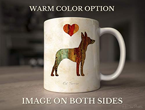 (Rat Terrier Dog Breed Mug by Dan Morris, Personalize with Dog Name )