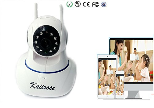 Kaiirose Wireless IP Camera, 720P HD Home WiFi Wireless Security Surveillance Camera with Motion Detection...