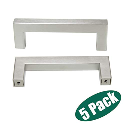 Probrico Stainless Steel Modern Square T Bar Kitchen Brushed Nickel Cabinet Handles Cupboard Pulls 3-3/4