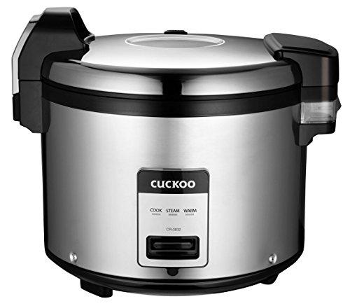 Cuckoo CR-3032 EL Commercial Rice Cooker, 30 Cups, Silver/Black