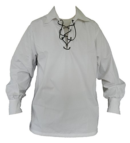 UT Kilts Jacobite Ghillie Shirt White X-Large (X-Large, White) ()