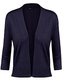 BILY Women's Classic Open Front Cropped Cardigan