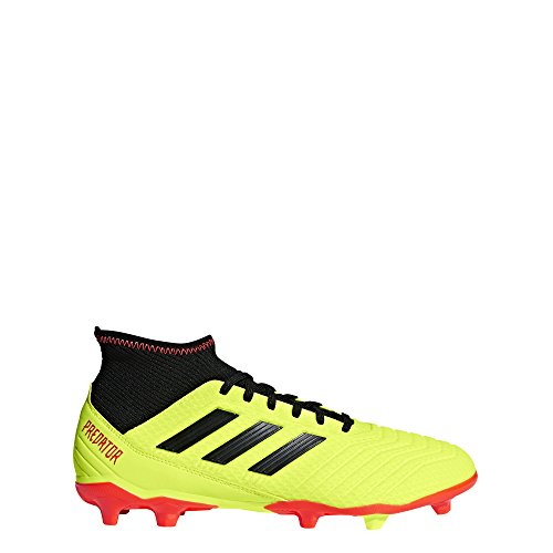 adidas Men's Predator 18.3 Firm Ground Soccer Shoe, Yellow/Black/Solar red, 8 M US
