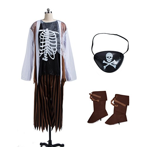 Zombie Costume, Pirate Halloween Cosplay Costume for Adult (Water Related Halloween Costumes)