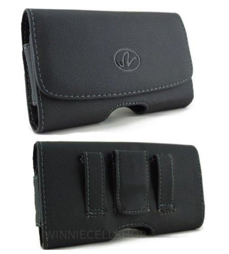 Leather Sideways Belt Clip Case Pouch Cover Holster for Motorola Motogo! EX431G