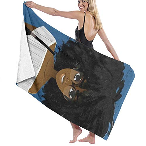 SARA NELL Microfiber Beach Towel African American Women Student Afro Girl Bath Towel Beach Blanket Quick Dry Towel for Travel Swim Pool Yoga Camping Gym Sport -30