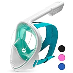scuba diving prescription snorkel mask scuba diving mask snorkel set diving mask PRODUCT BENEFITS: EASY BREATHING - Full mask for natural breathing through the nose and/or mouth.ANTI-FOGGING - An exclusive air circulation concept that prevent...