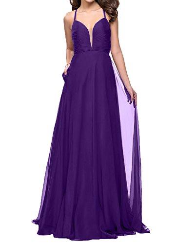 Lang Jaeger Lila Abendkleider Charmant Chiffon Damen Einfach Gruen Brautjungfernkleider Ballkleider Festlichkleider 155pzqw