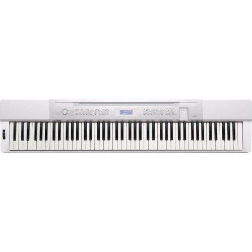 Casio PX-350 MWE Privia portable Piano weiß matt (88 Tasten, Tri-Sensor Hammermechanik, Kopfhöreranschluss, USB-Flashmemory-Port, Netzadapter, Pedal, Notenhalter)
