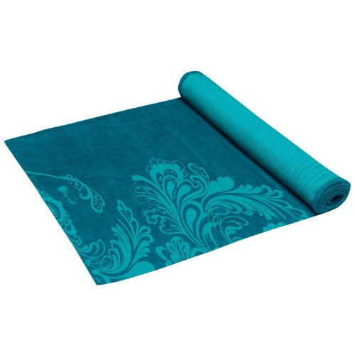 Gaiam Grippy Yoga Mat Towel, Sea Teal/Turquoise