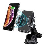 CHOETECH Cargador Inalambrico Auto, Car Wireless Charger Carga Rápida Soporte Celular Coche con Ventosa para Parabrisas 7.5W para iPhone XS/ XS Max/XR/ X/8 Plus/8, 10W Carga Inalambrica para Samsung Galaxy S9 / S8 / Note 9 / Note 8
