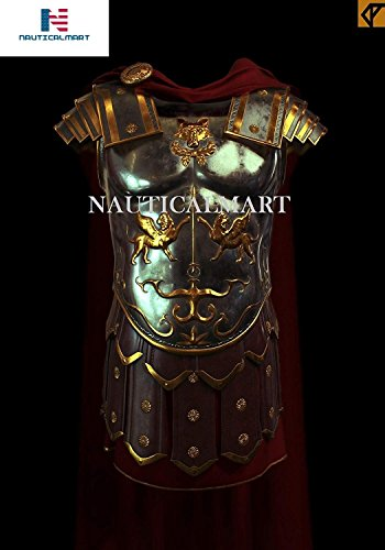 l Greek Muscle Armor Muscular Hunting Ancient Roman Cuirass Weave with Belt - Halloween ()